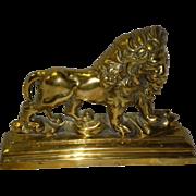 Solid Brass Lion Door Stop