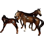 Golden Crown Ebeling & Reuss (E & R) Horse Figurines