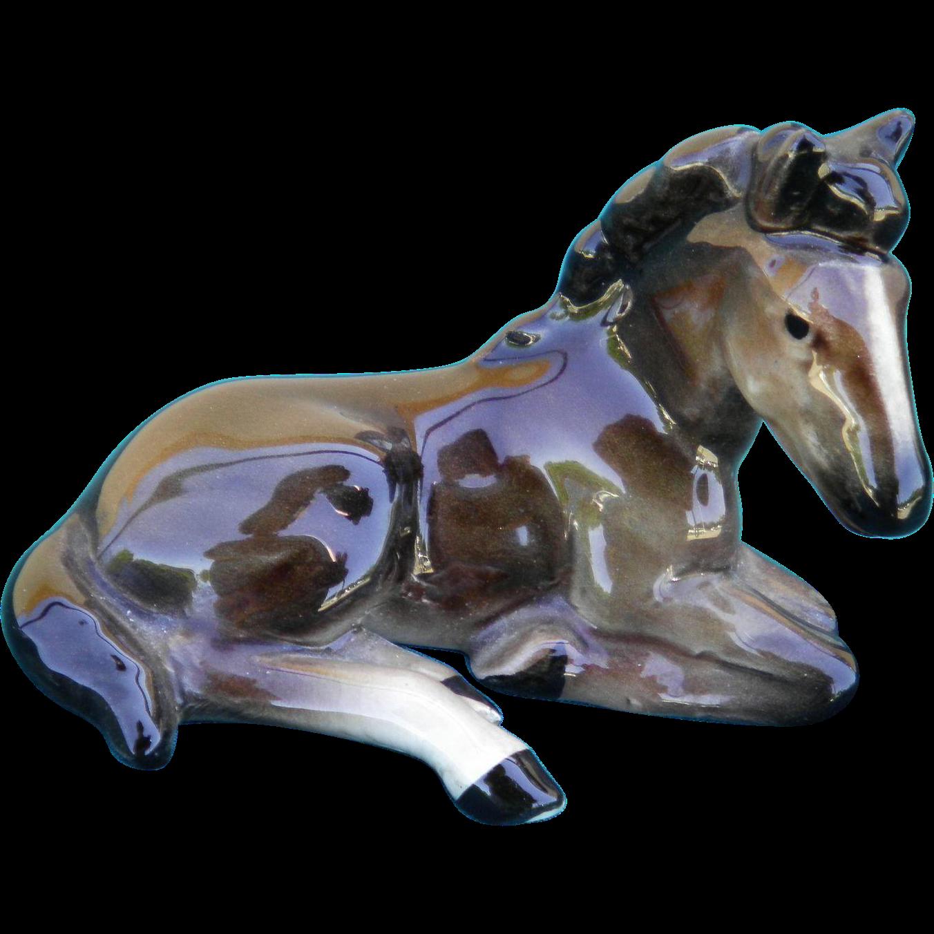 Wien Keramos Glass Porcelain Foal Horse Figurine Austria