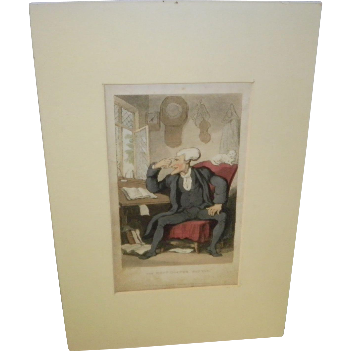 The Revd Doctor Syntax By Thomas Rowlandson Dated 1821
