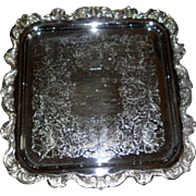 Poole Silver Co. Large Footed Square Tray