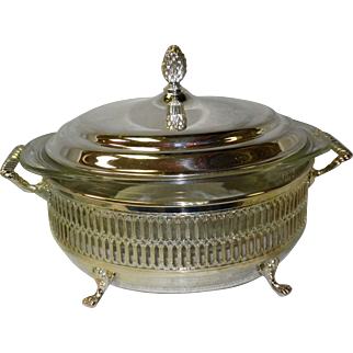 W.A. William Adams Silver Plated Covered Serving Bowl