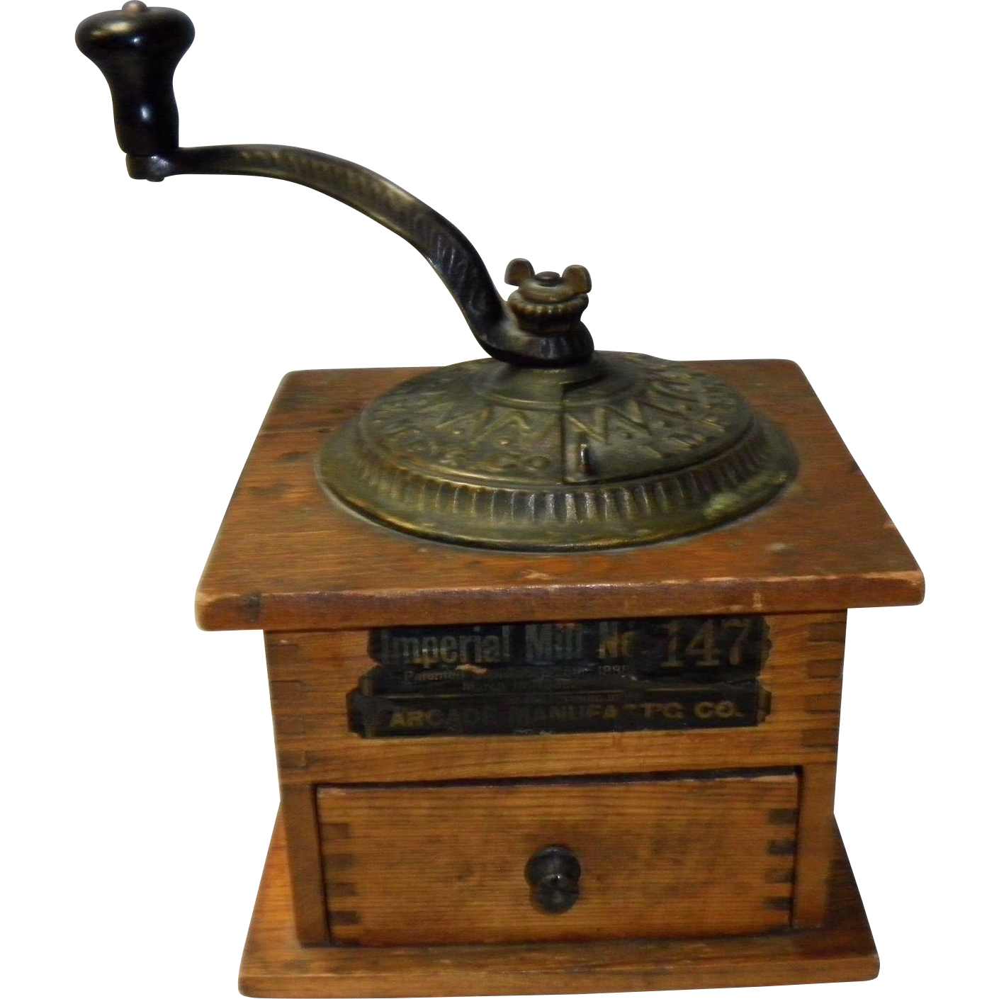 Old Mill Antique Mall Home: Antique Arcade Coffee Mill Grinder Imperial No. 147 Pat