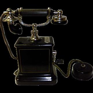 Antique K.T.A.S Kjobenhavns Telefon Aktieselskab Hand Crank Phone
