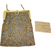 Antique Beaded Purse With Coin Purse