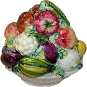 Italian Pottery Vegetable Basket