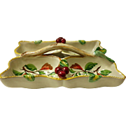 Italian Pottery Divided Serving Dish With Handle