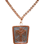 Solid Copper Eagle Necklace
