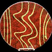 "Redware Pottery 10"" Slipware Plate"