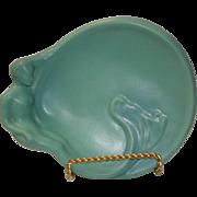 Signed Van Briggle Art Deco Nude Mermaid Pottery Tray / Platter,