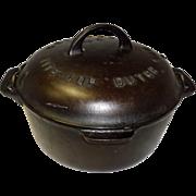 Griswold #7 Tite Top Cast Iron Dutch Oven Block Logo 2603A 2604A