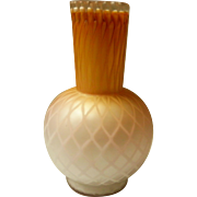 Quilted Satin Glass Vase
