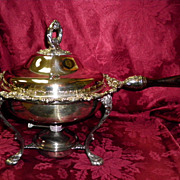 Wallace Silver Plate Chafing Dish Baroque Pattern 295