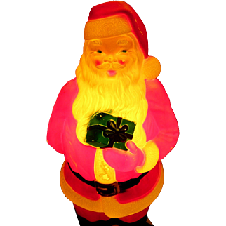 """Large Lighted Santa 33"""" By Empire Plastic 1971"""