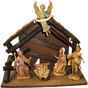 7 Piece Nativity Set Depose Italy With Spider Mark