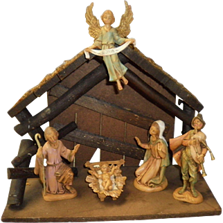 7 Piece Nativity Set Depose Italy With Spider Mark