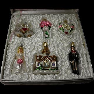 Old World Christmas Wedding Ornament Set