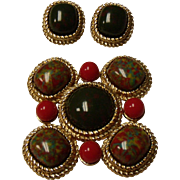 Vintage Sarah Coventry Pin / Brooch And Earring Set