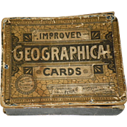 Antique 1883 Geographical Cards