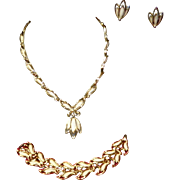 Vintage Sarah Coventry 3 pc. Necklace, Bracelet and Clip-On Earrings