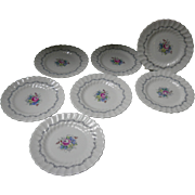 Set of 8 Royal Doulton Chelsea Rose Butter Plates