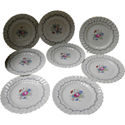 "Set of 8 Royal Doulton ""Chelsea Rose"" Salad Plates"