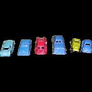 6 Vintage Tootsietoy Diecast Cars and Trucks