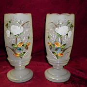 Set OF Two Bristol Mantel Urns