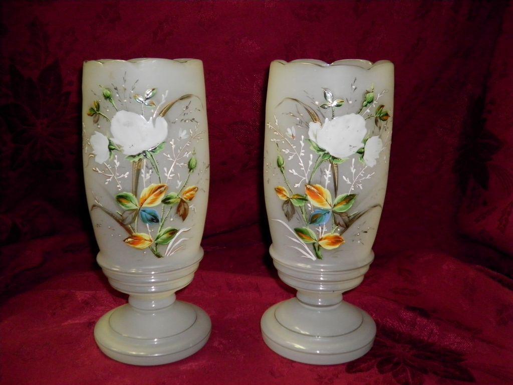 Set OF Two Bristol Mantel Urns