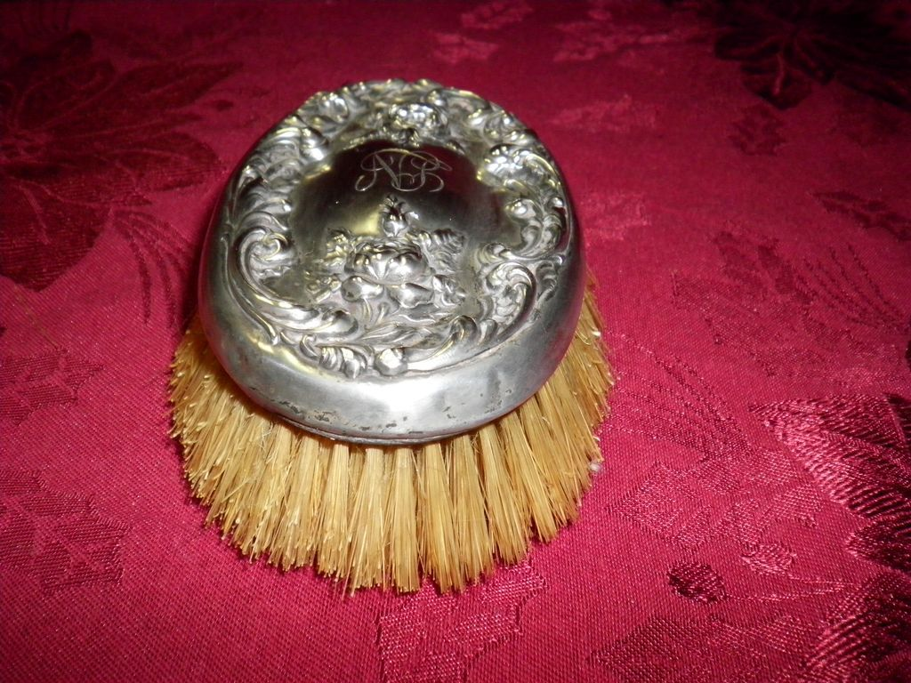 1841 F & B Sterling Silver Hand Brush