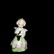 Vintage Lefton Figurine Angel Playing Saxophone