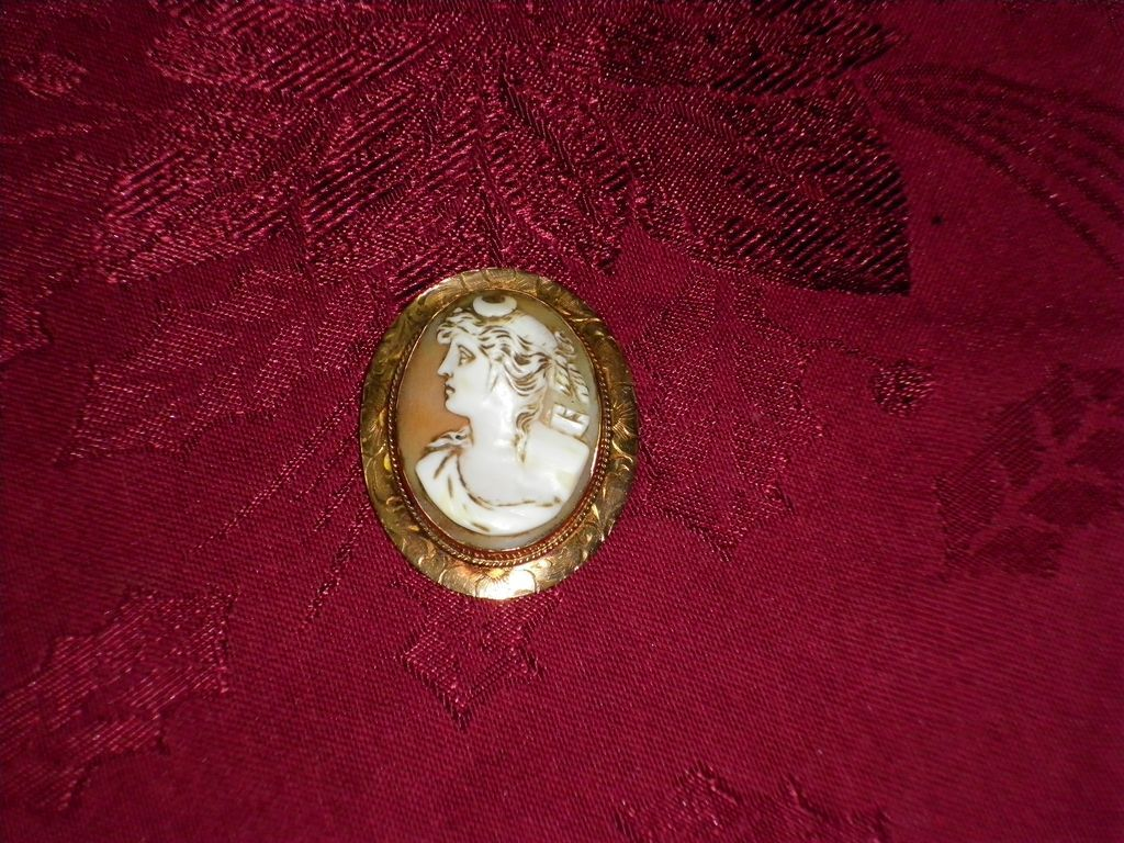 Antique 1800's Cameo With C Clasp Pin