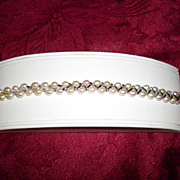 Fresh Water Pearl Bracelet With Sterling Silver Clasps