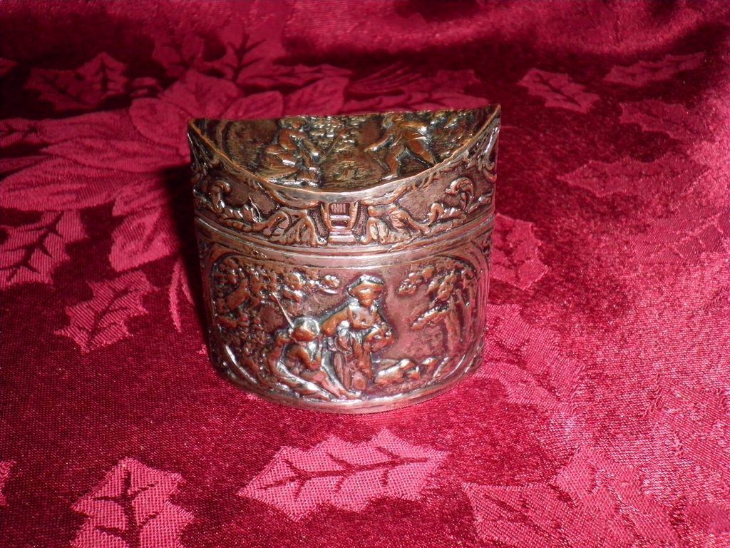 Dutch Silver Plate Powder Box