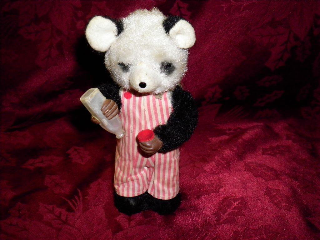 Vintage Tin / Plush Wind Up Bear