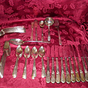Vintage Holmes & Edwards Inlaid IS 78 Piece Silverware Set