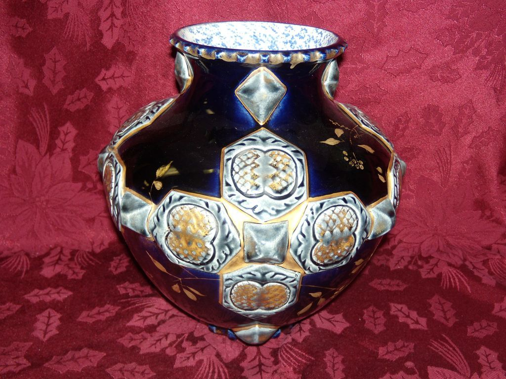 French Majolica Choisy Le - Roi Vase
