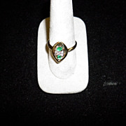 14 kt. Yellow Gold Emerald & Diamond Ring Size 9 With Appraisal