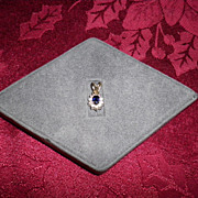 14 kt. White Gold Sapphire And Diamond Pendant With Appraisal