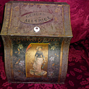 Antique Metal Allspice Cabinet The Chicago Stamping Co. Bakers