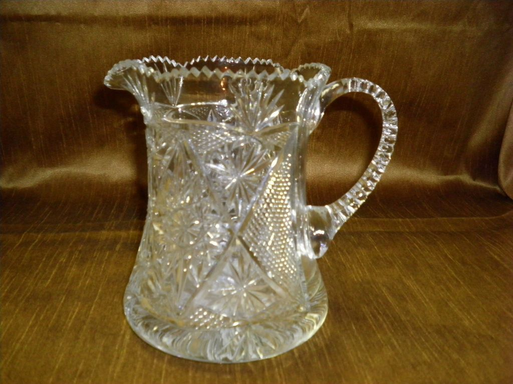 Brilliant Cut Glass Pitcher