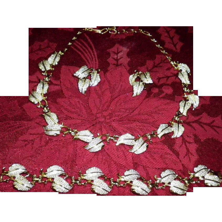 Vintage EMJ Emmons Necklace Bracelet Earrings Set