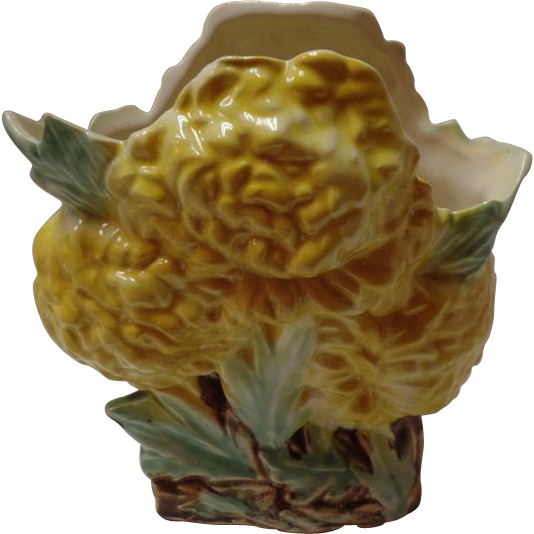 McCoy Yellow Chrysanthemum Vase