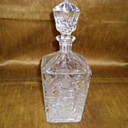Brilliant Cut Glass Decanter With Stopper
