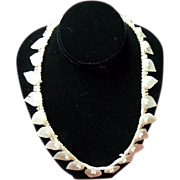 Vintage 1930's Mother Of Pearl Shell Necklace