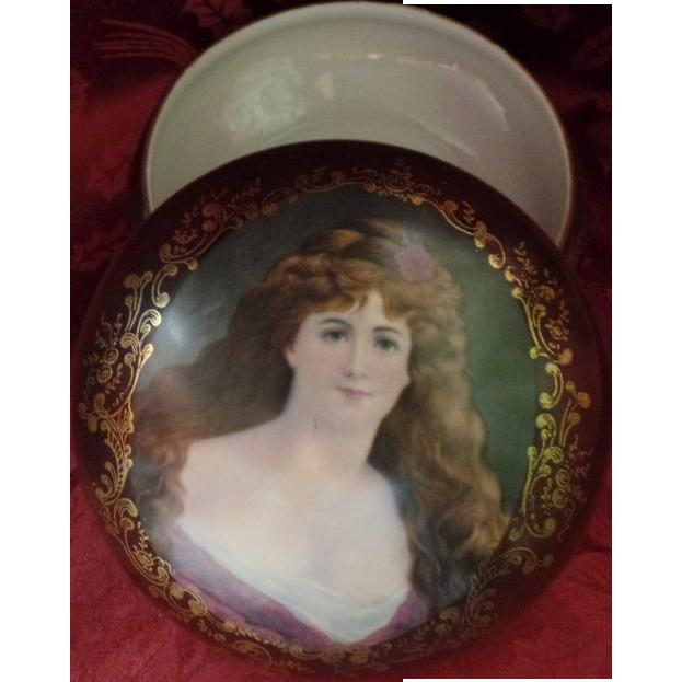 Antique German Porcelain Box