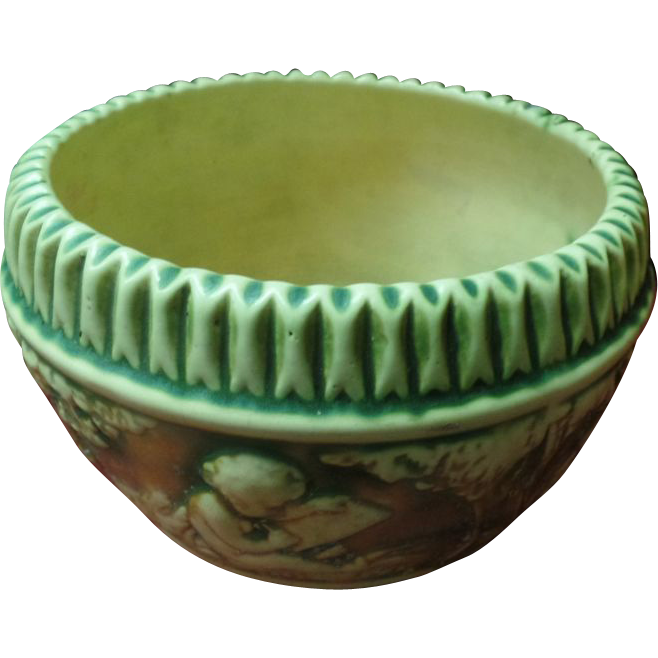 Roseville Donatello Jardiniere / Bowl Art Pottery