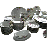 136 Piece Noritake Azalea China Including Mini Coffee Pot & 6 Demitasse Cups