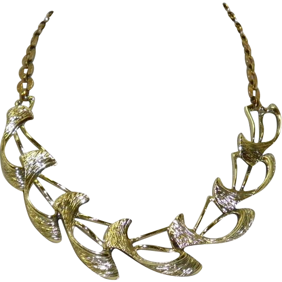 Vintage Selini Gold Tone Necklace