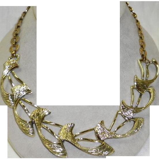 Vintage Selini Gold Tone Necklace